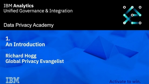Thumbnail for entry Data Privacy Academy: Introduction