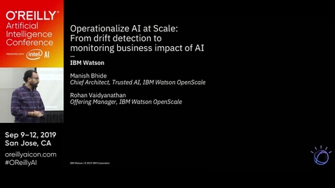 Thumbnail for entry Operationalize AI at scale: From drift detection to monitoring business impact of AI with IBM Watson OpenScale