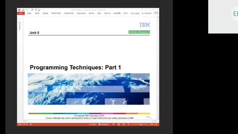 Thumbnail for entry Course CM17 IMS DB Application Programming Unit 5 (Programming Techniques Part 1)