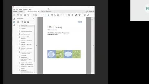 Thumbnail for entry Course CM17 IMS DB Application Programming Unit 9 Part 1 Lab 4 (Advanced SSAs Part 2)