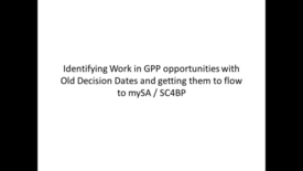 Thumbnail for entry Adjusting Work in GPP opportunities in GPP for MySA deployment