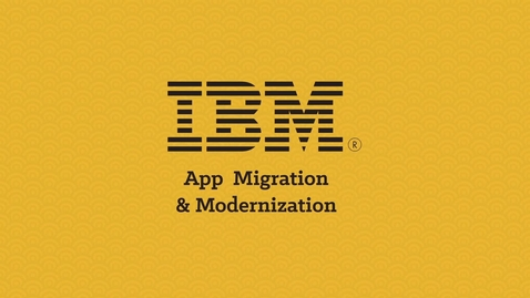 Thumbnail for entry App Modernization & Migration with IBM Brokerage Solutions (Japanese)