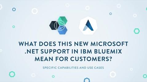Thumbnail for entry Apprenda + IBM Bluemix:Running .NET workloads on IBM Cloud