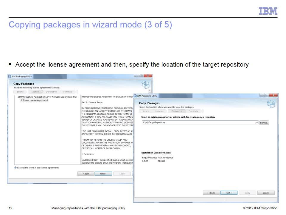 Managing Repositories With The Ibm Packaging Utility Ibm Mediacenter