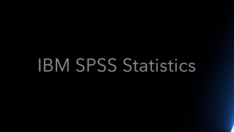 Thumbnail for entry Output and visualization with IBM SPSS Statistics and the New User Interface