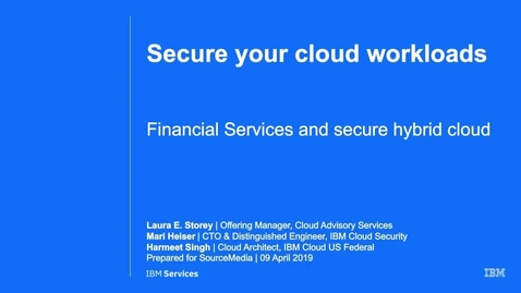 Thumbnail for entry Secure your cloud workloads