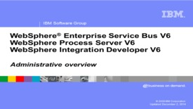 Thumbnail for entry Administrative overview