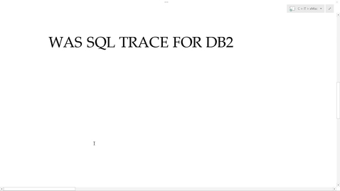 Thumbnail for entry WAS: Logs and Traces - Part 4 - View DB2 SQL statements in Parameterized Queries