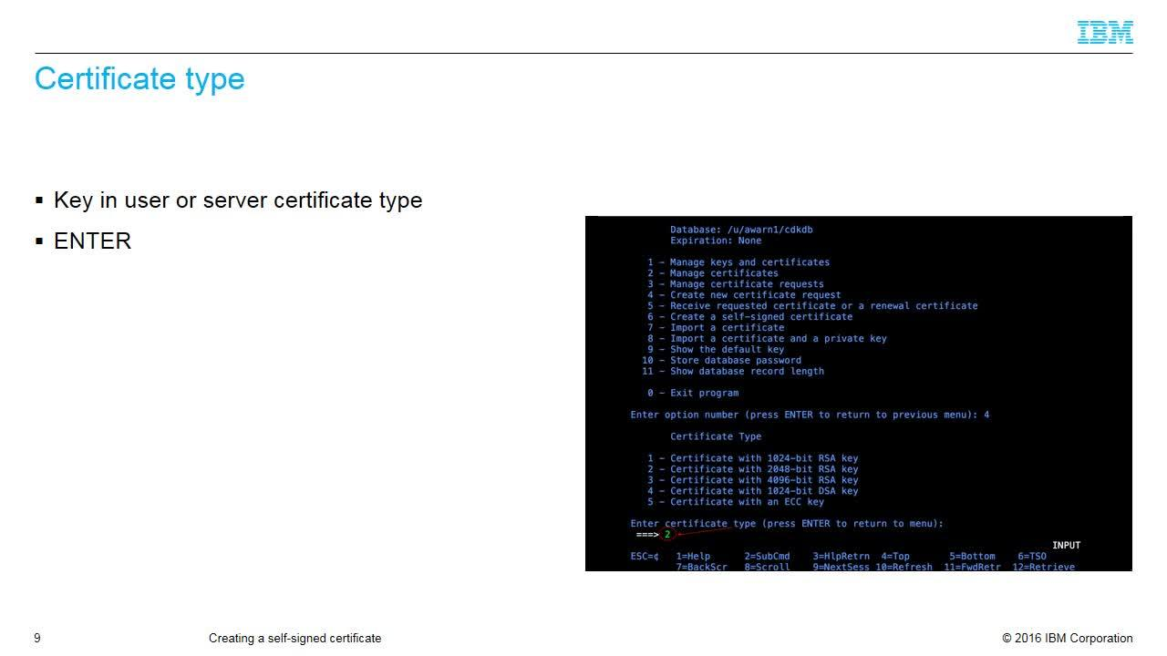 Gskkyman Part 3 Generating A Certificate Signing Request Ibm