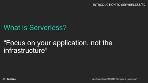 Thumbnail for entry Serverless 介绍