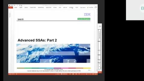 Thumbnail for entry Course CM17 IMS DB Application Programming Unit 9 Part 2 (Advanced SSAs Part 2)