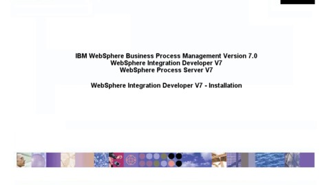 Thumbnail for entry Installing WebSphere Integration Developer and the WebSphere test environment