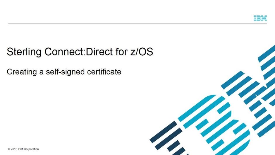 Gskkyman Part 2 Creating A Self Signed Certificate Ibm Mediacenter