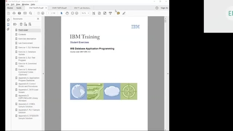 Thumbnail for entry Course CM17 IMS DB Application Programming Unit 4 Part 1 Lab 2 (DL/I Update Calls)