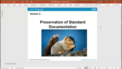 Thumbnail for entry Unit 7, video 3: Preserving log and dump documentation