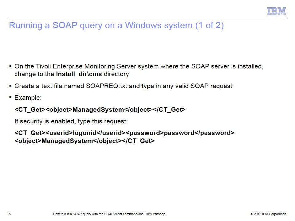 How to run a SOAP query with the SOAP client command-line