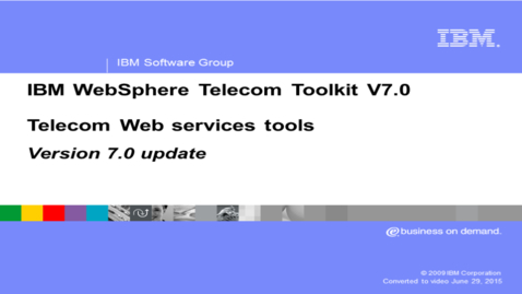 Thumbnail for entry Telecom Web services feature update