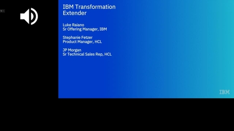 Thumbnail for entry B2B Collaboration Client Webinar: A Sneak-peak Into the Next Release of IBM Transformation Extender
