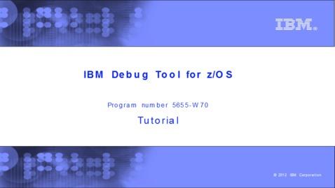 Thumbnail for entry Loading program debug files in the GUI debugger