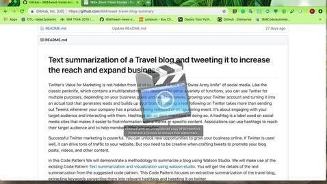Thumbnail for entry 从旅行博客中提取和汇总文本并发布带有已标识标签的推文