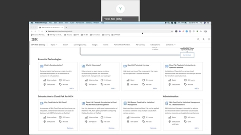 Thumbnail for entry 教学视频 MCM - IBM Demos Cloud Pak for Multicloud Management