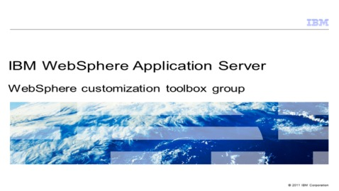 Thumbnail for entry WebSphere customization toolbox group