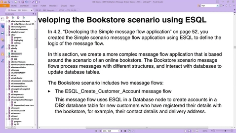 Thumbnail for entry IIB: Database Node: ESQL: INSERT into a database