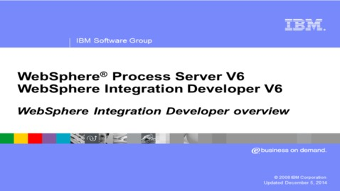 Thumbnail for entry WebSphere Integration Developer V6.1 overview