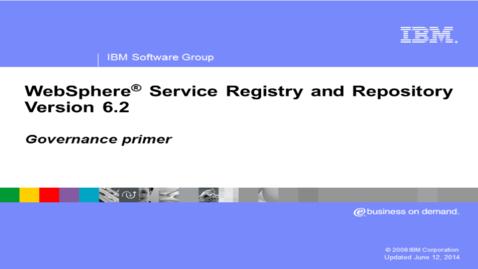 Thumbnail for entry Governance primer