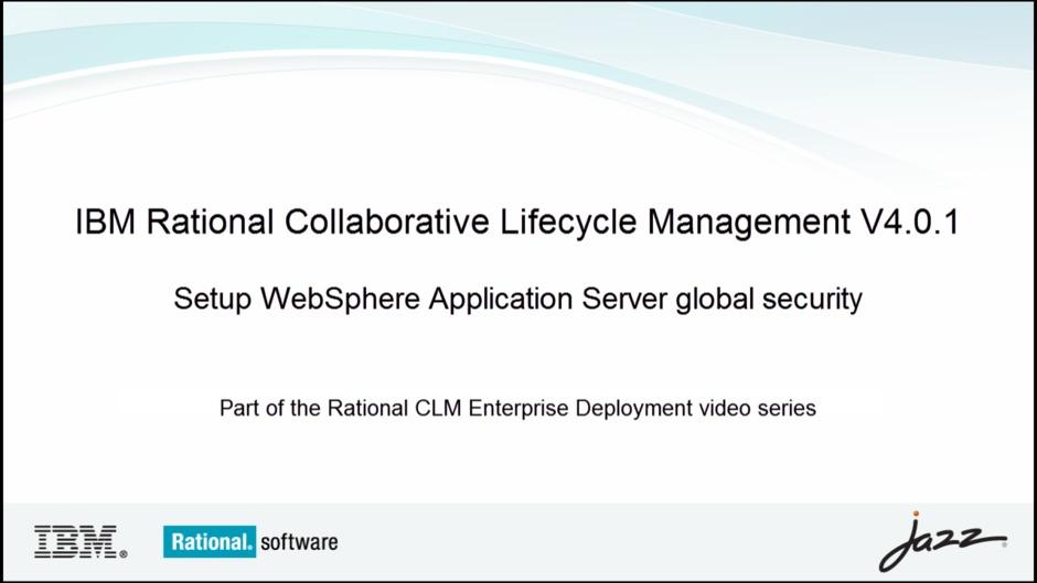 Setup Websphere Application Server Global Security Ibm Mediacenter