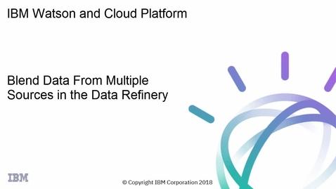 Thumbnail for entry 数据精炼厂:混合来自多个源的数据