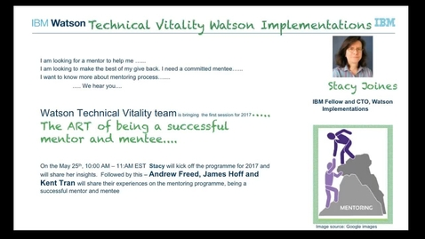 Watson Technical Vitality Implementations - Mentoring