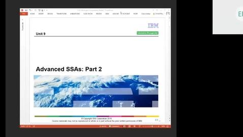 Thumbnail for entry Course CM17 IMS DB Application Programming Unit 9 Part 1 (Advanced SSAs Part 2)