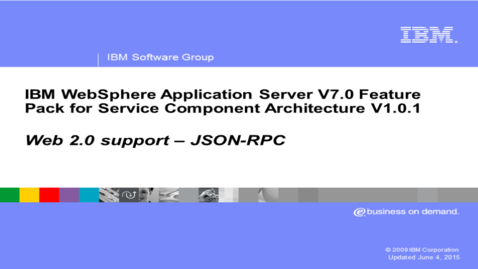 Thumbnail for entry Web 2.0 support - JSON-RPC