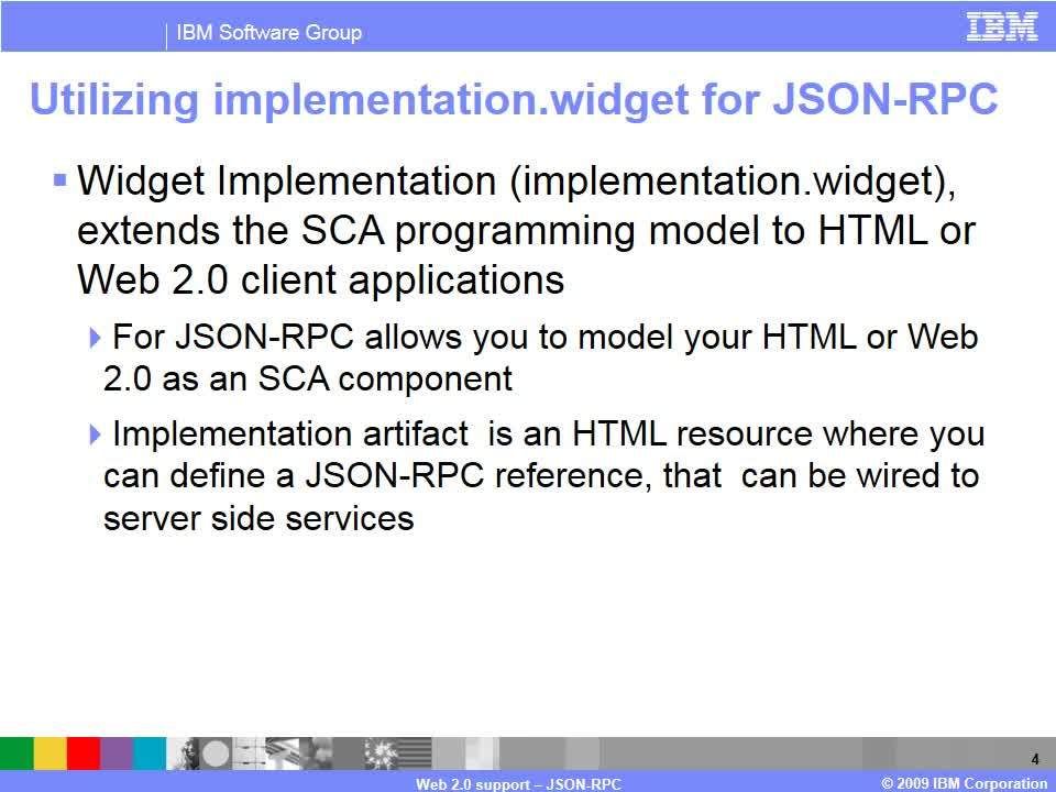 Web 2 0 support - JSON-RPC - IBM MediaCenter