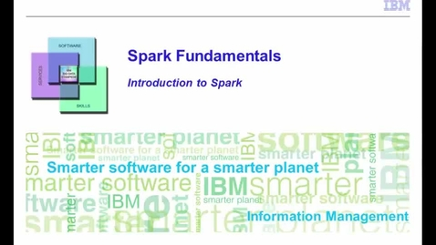 Thumbnail for entry Introduction to Spark - Part 1