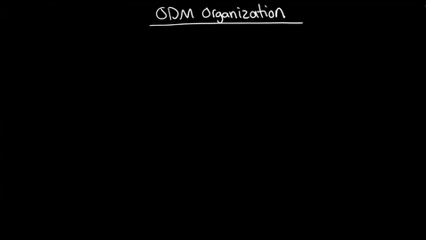 Thumbnail for entry ODM: How ODM organizes information: Model, BOM, XOM, Package, Project, Verbalizations