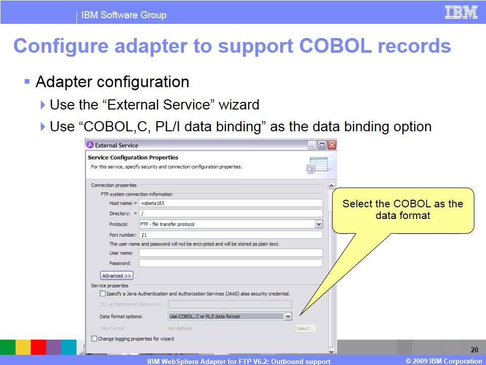 WebSphere Adapter for FTP - Outbound - IBM MediaCenter