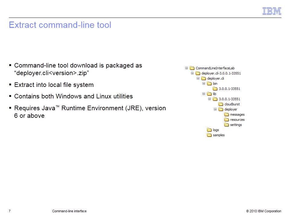 Command-line interface - IBM MediaCenter