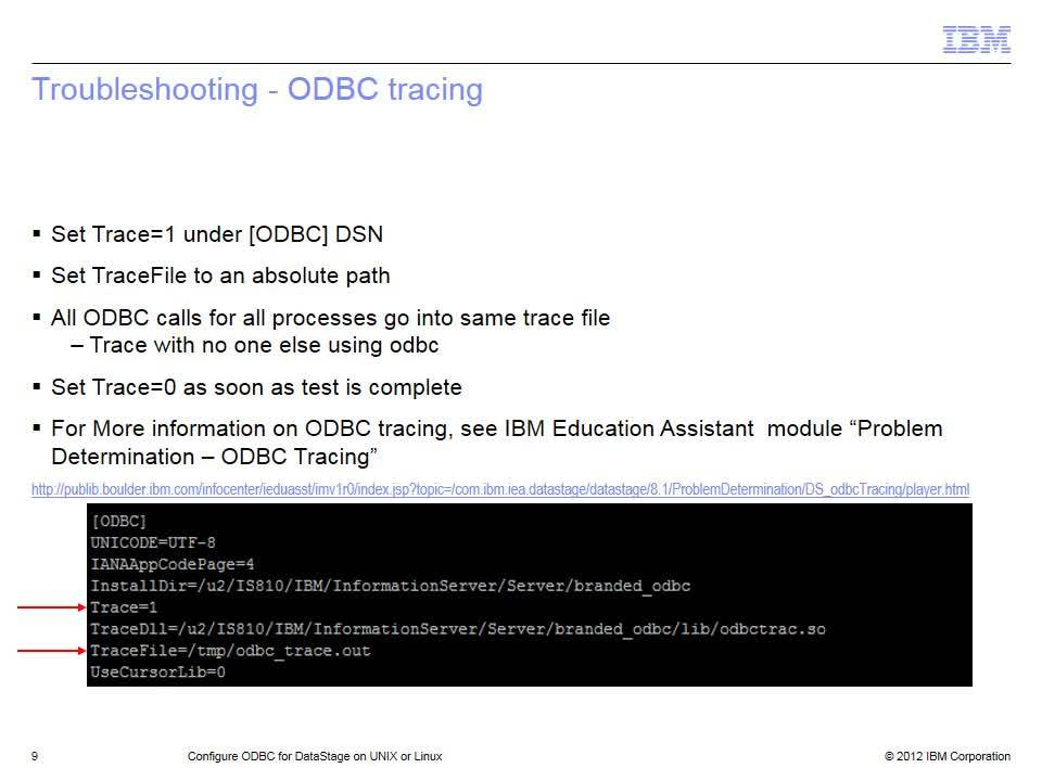 Configure ODBC for DataStage on UNIX and Linux - IBM MediaCenter