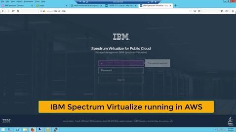 Thumbnail for entry IBM Spectrum Virtualize running in AWS
