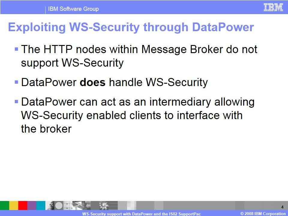 WS-Security support with DataPower and the IS02 SupportPac