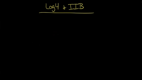 Thumbnail for entry IIB: Why use Log4J for IIB