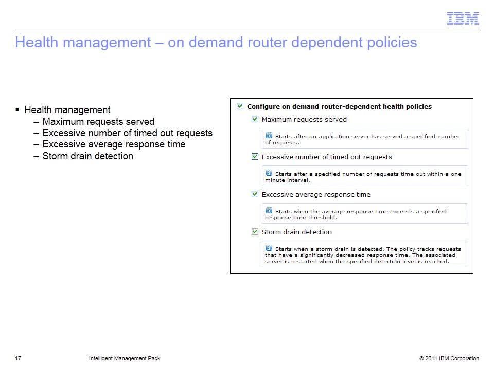 Intelligent Management Pack - IBM MediaCenter