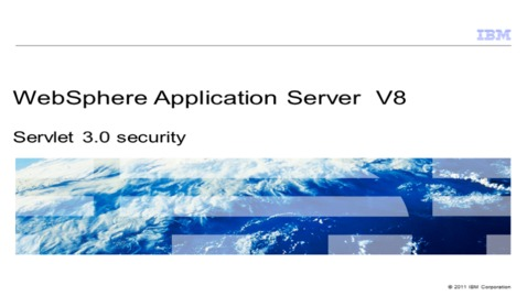 Thumbnail for entry Servlet 3.0 security