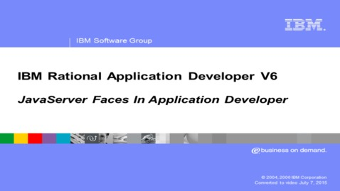 Thumbnail for entry JavaServer Faces tools overview