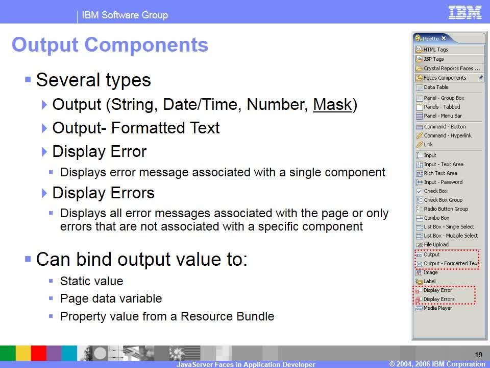 JavaServer Faces tools overview - IBM MediaCenter