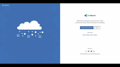 Thumbnail for entry Building a Web BFF Using IBM Cloud Developer Console