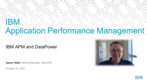 Thumbnail for entry IBM APM for DataPower - Q4 sales play - small