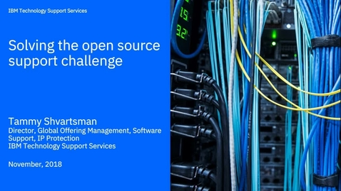 Thumbnail for entry Solving the open source challenge